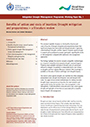 Benefits of action and costs of inaction: Drought mitigation and preparedness – a literature review