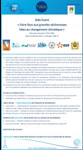 Invitation 2.12.2015 -Faire face aux grandes sécheresses liées au changement climatique - COP21
